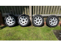 Mercedes c class wheels with tyres (W203)