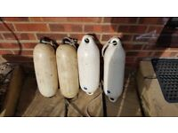 "Four 20"" x 6"" dia Inflatable Boat Fenders"