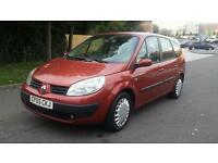Renault grand scenic 7 seater 2005 low mileage 12 months mot
