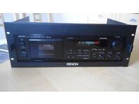 DENON DRM-550 Cassette Deck with 19 inch 4U rack mount