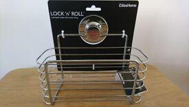 BlissHome Lock N Roll Suction Shower Basket - New