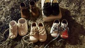 Various baby boy shoes from 0 to 3 to 12 months