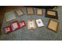 Variety of picture frames (16) RED 1 SOLD