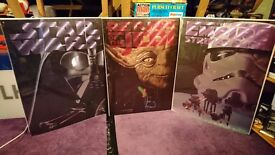 STARS WARS LARGE 3D HOLOGRAM PICTURES x3 - ALL NEW & SEALED
