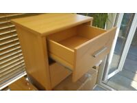 2 drawer wooden chest