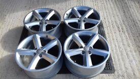 Audi A4 B8 S line 18 inch Ronal alloy wheel rims x 4