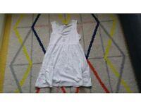 Ladies george dress size 12 white 100% cotton