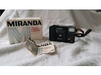 Miranda ME X 35mm film compact range finder flash camera lomo lomography retro vintage pre digital