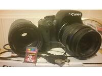 Cannon 600D + 2 Lenses + HD Capture Card