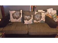 3 seater sofa & swivel chair