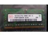 HYNIX 1GB Laptop RAM Memory