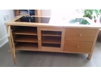 Beautiful piece of furniture with inset granite top. Cupboard has 2 shelves.