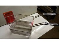 2 X BASKET FOR VALENTINE FRYER MODEL V2200 AND EVO 2200 LATEST MODEL VALENTINE