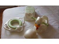 Mamas and papas duck potty, toilet training seat and bathroom stool