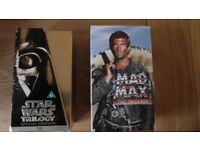 Star wars special edition box set and Mad Max trilogy.