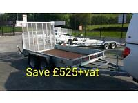 Save £500+vat on this new Indespension 10x6 plant trailer ramp 3.5ton leds strong galvanised trailer