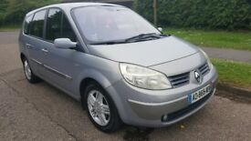 2004 LEFT HAND DRIVE RENAULT GRAND SCENIC, 7 SEATER, NOW UK REGISTERED