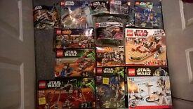 Assorted star wars lego sets