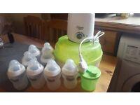 Mam Steriliser; bottles and bottle warmer bundle