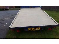 TWIN AXLE FLAT BED TRAILER CAR TRANSPORTER