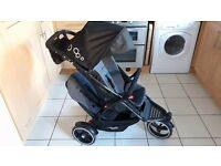 Phil and Teds Dot V3 double tandem pushchair / buggy in Graphite
