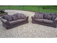 2 Brown sofas for sale