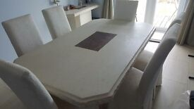 Mable Dining Table, matching side unit + 6× Chairs