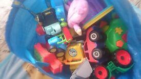 Large bundle of 15 big toys including a hopper