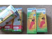 5 Phillips Energy Saver light 14 watts equivalent to 75 watt ordinary Bulb + 1 FREE 11 watt light