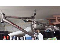 Full suspension mountain bike frame