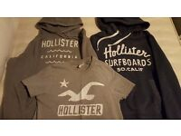 2 Hollister Hoodies + 1 tshirt size small