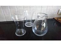 Miscellaneous vases, jug and cafetiere, used