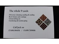 The whole 9 yards landscaping services new driveways / patios / driveway cleaning / roofcleaning