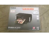 Canon Pixma MG3650 Wi-Fi, Ink jet, All in One Printer - complete with INK *SALE*
