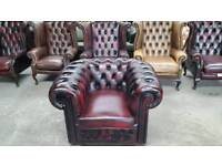 Stunning oxblood leather chesterfield winchester club chair UK delivery CHESTERFIELD LOUNGE