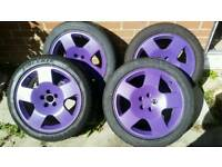 5x100 alloy wheels and tyres