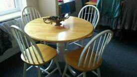 Table and chairs country style