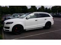 "AUDI Q7 S LINE QUATTRO 3.0 TDI WRAPPED IN WHITE WITH 22"" ALLOY WHEELS + FSH 7 SEATER OR PX SWAP?"