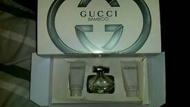 Gucci bamboo ladiea set boxed new