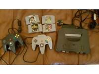 N64 with games and 2 controllers
