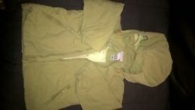 H&M Lime Green Coat, shower/water resistant with reflector on back