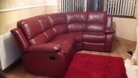 Reclining Corner leather sofa