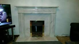 White Marble Fireplace for Sale