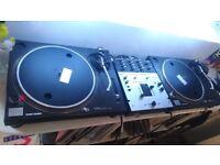 Technics SL-1210 Mk11, X2, plus Vestax PMC-05 Mk11 Pro mixer