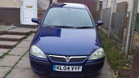 2004 Vauxhall Corsa Low Mileage, Full 12 Months MOT