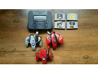 N64 with 5 games
