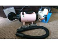 Dog grooming dryer/blower and clippers