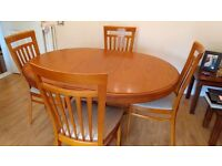 Round (Extendable) Dining Table & Chairs, inc 2 Carvers 'STAG' make