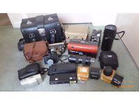 Old Film Camera Equipment.