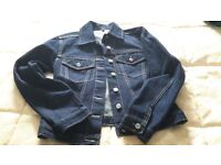 An Indigo by M&S denim jacket and Wallis brocade jacket size 8